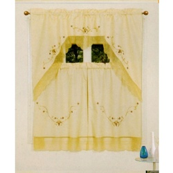 Kitchen Curtain   Beige With Gold Finish
