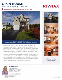 ***OPEN HOUSE*** 19 Landsdown Dr. in Cole Harbour