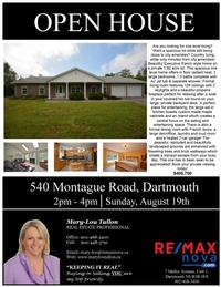 OPEN House Sunday, Aug 19  2pm-4pm