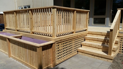 cedar deck and custom deck furniture