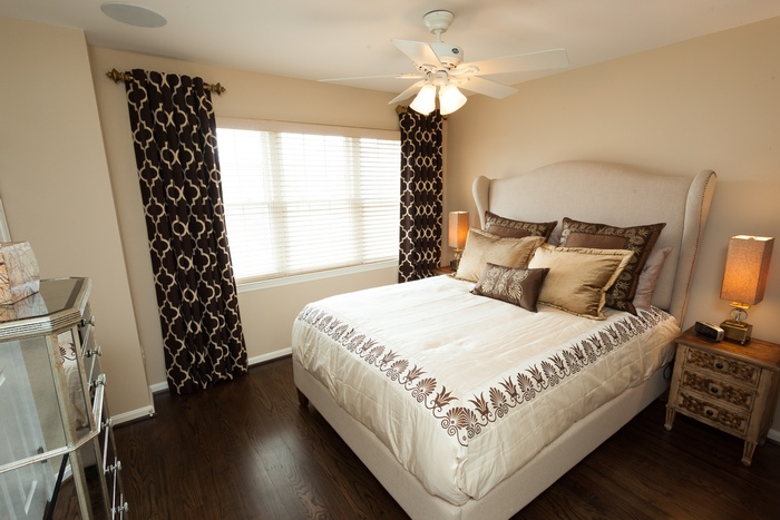 Gold & Brown Guest Room
