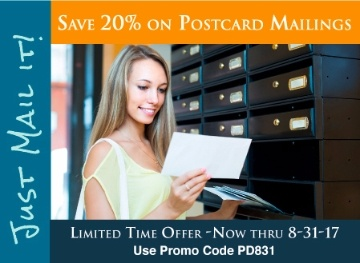 Save 20% on Postcard Direct Mail