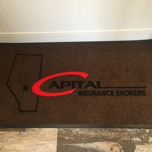customlogomats_I_did_for_Capital_Insurance_in_Edmonton_yeg_I_do_this_on_the_side