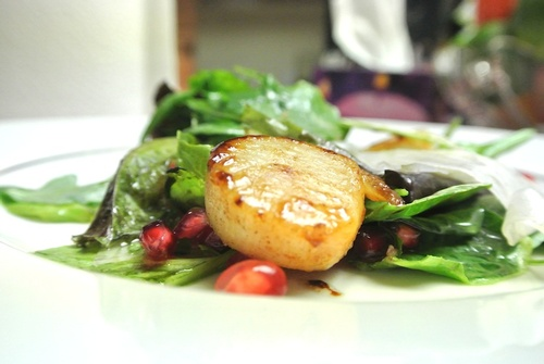Seared Scallop with a Pernot Glaze