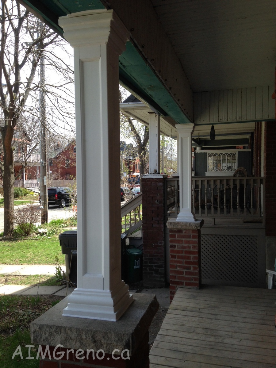 way corners columns pin at porch home and for ideas entry fiberglass