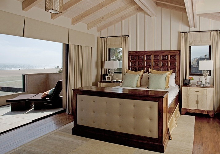 Master Bedroom Wood Beach House santa monica