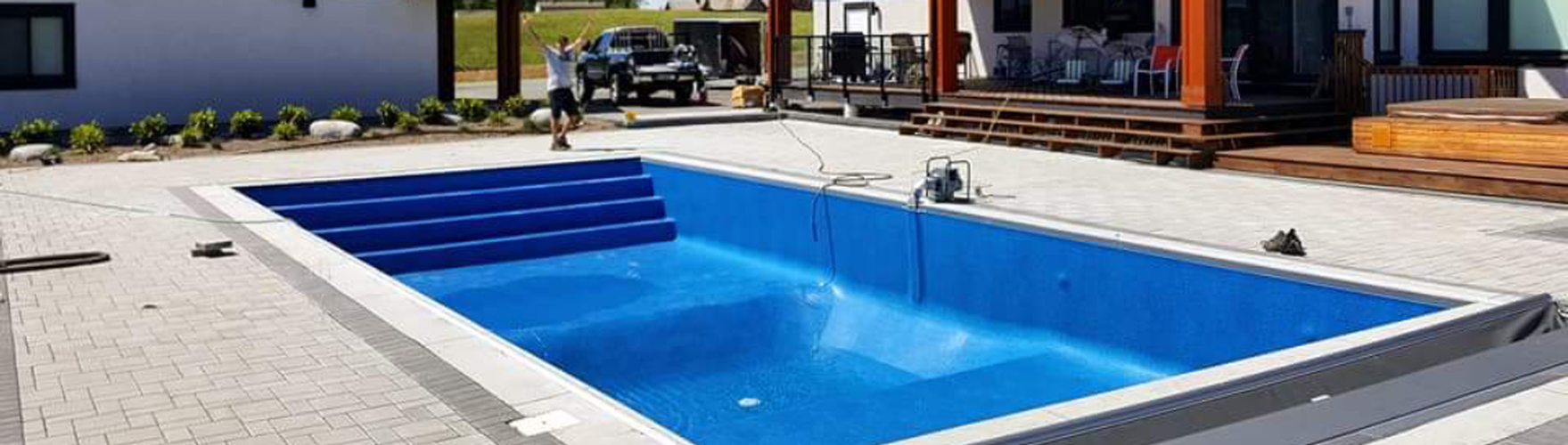 Swimming Pool Installation Service : Inground pool construction north vancouver bc vinyl