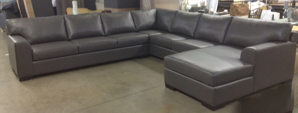 Grey Living Room Sectional Sofa At ViVi Upholstery   Residential Furniture  Manufacturers North York