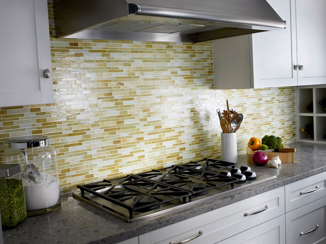 Contemporary Kitchen Backsplash Design by Old Castle Home Design Center in Atlanta