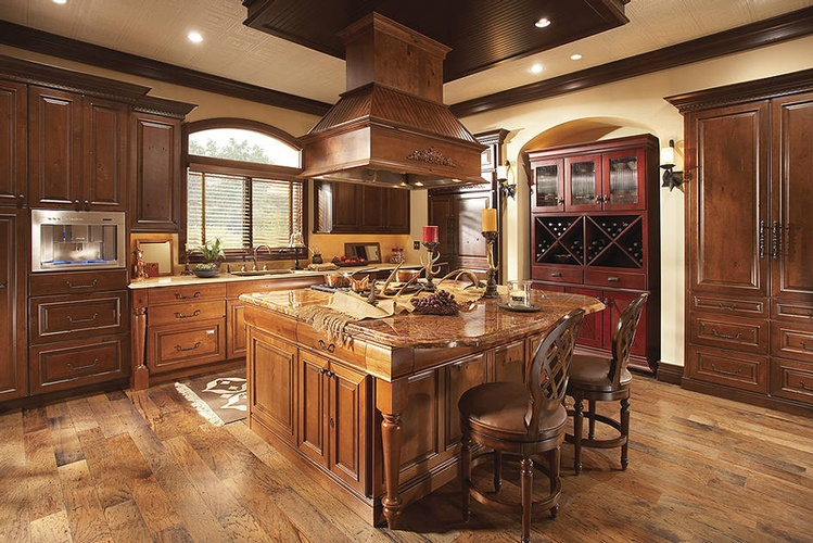 Island Kitchen Hood Design by Old Castle Home Design Center