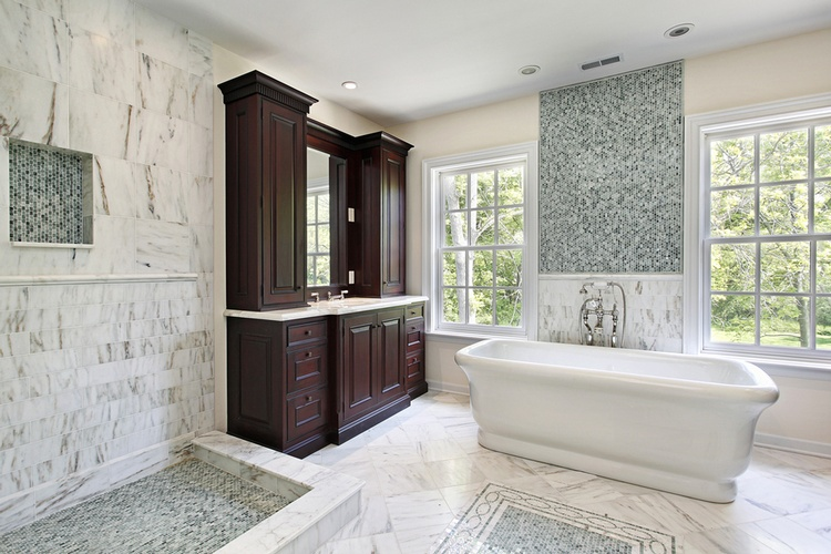 Mosaic Bathroom Tiles Atlanta by Old Castle Home Design Center