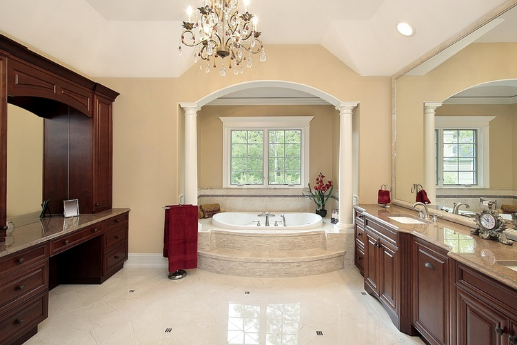 Bathroom Ceramic Tile Flooring by Old Castle Home Design Center
