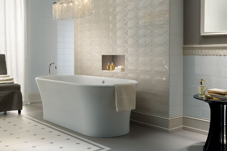 Decorative Bathroom Wall Tiles in Atlanta by Old Castle Home Design Center