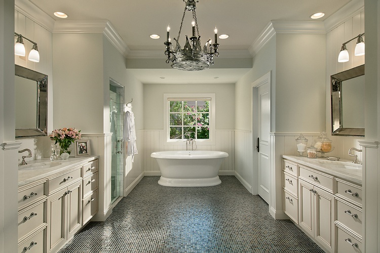 Mosaic Bathroom Floor Tiles by Old Castle Home Design Center
