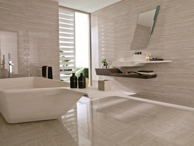 Bathroom Wall & Floor Porcelain Tiles by Old Castle Home Design Center
