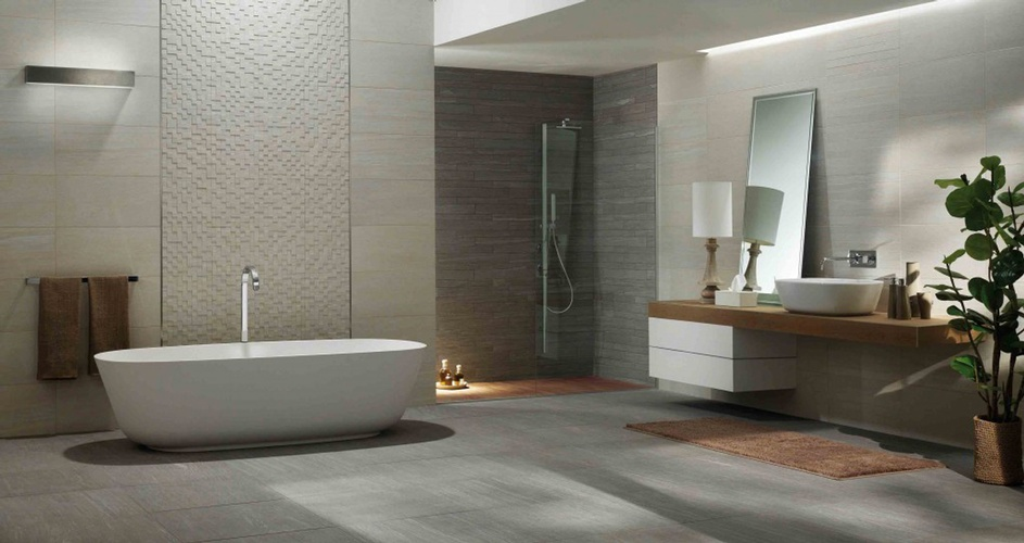 Glazed Porcelain Floor tiles for Bathroom by Old Castle Home Design Center