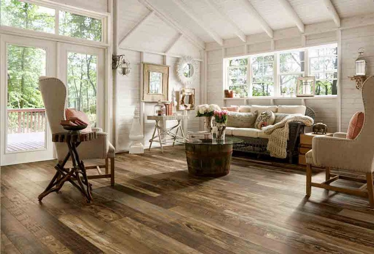 Living Room Hardwood Flooring by Old Castle Home Design Center