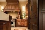 Wood Kitchen Hood Design by Old Castle Home Design Center in Atlanta