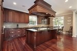 Island Wood Kitchen Hood Design by Old Castle Home Design Center