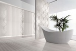 White Porcelain Bathroom Tiles by Old Castle Home Design Center