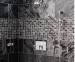 Grey Natural Stone Bathroom Tiles in Atlanta by Old Castle Home Design Center