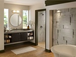 Porcelain Tile Wall in Bathroom by Home Renovation Company in Atlanta - Old Castle Home Design Center
