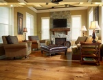 Living room Wood Floors by Old Castle Home Design Center