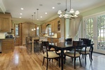 Light Wood Floor Kitchen by Old Castle Home Design Center