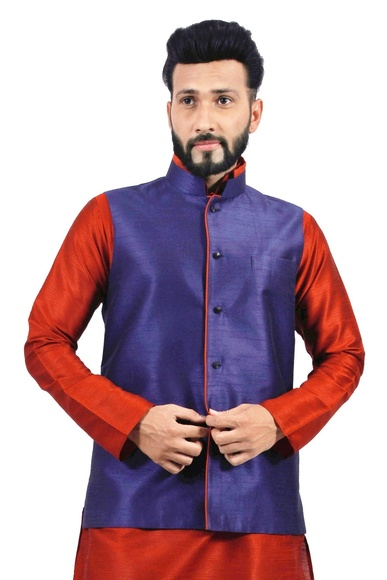 Navy Blue  Nehru Jacket   RK4130