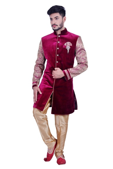 Burgundy Purple  Indowestern Sherwani  RK1090