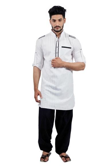 White  Pathani Suit  RK4138