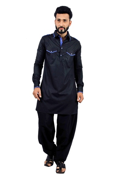 Black  Pathani Suit  RK4146