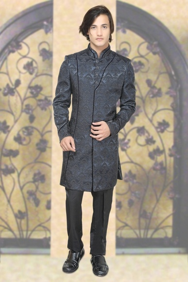 Blue Color Elegant look Indo Western Sherwani