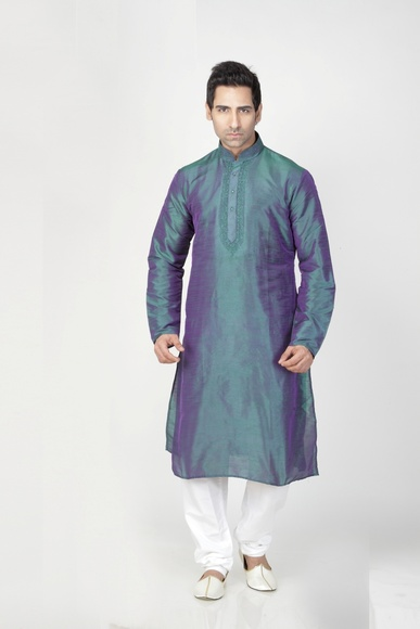 Blue & Violet Color Kurta Payjama