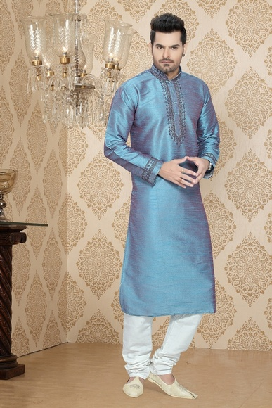 Sophisticated Royal Blue Kurta Payjama