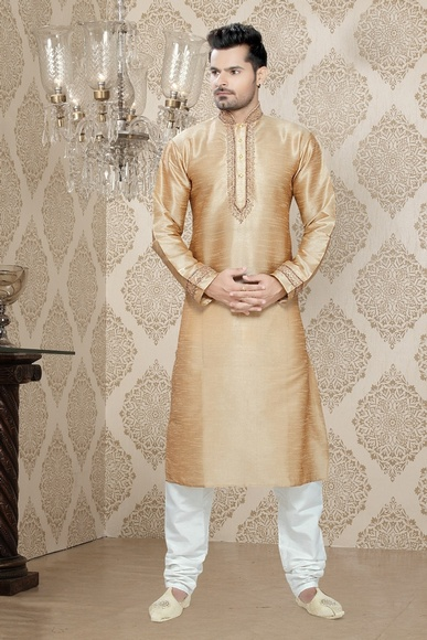 Beige Color Trendy Kurta Payjama