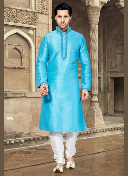 Blue Color Heavy Look Kurta Payjama