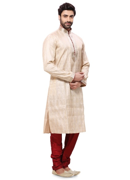 Attractive Look Beige Color Kurta Payjama