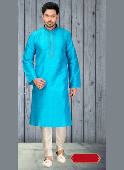 Sensational Blue Color Unique Kurta Payjama