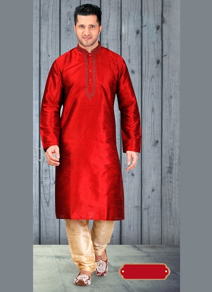 Urban Ethnic Red Kurta Payjama