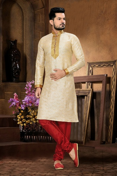 Beige Color Stylish Kurta Payjama