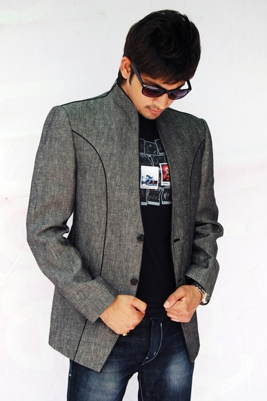 Astonishing Modern Grey Linen Blazer BL5015