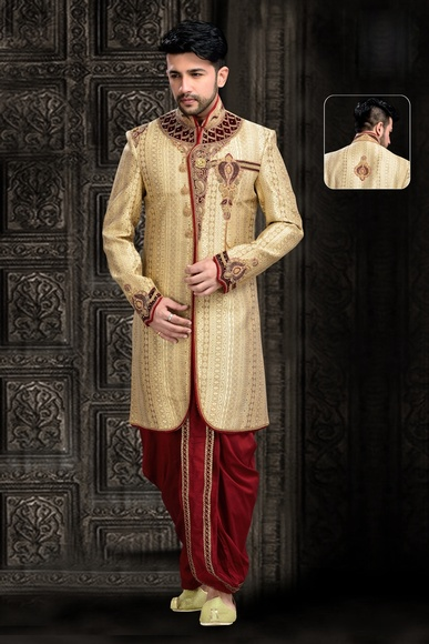 Cream Color Mesmerizing Royal Sherwani For Men