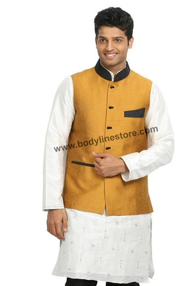Gold Nehru Jacket RK4123