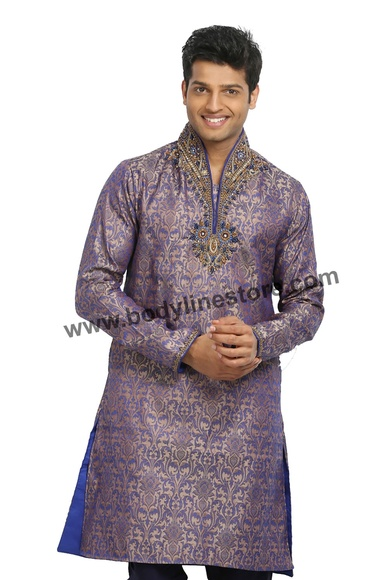 High Neck Kurta Pajama RK4082