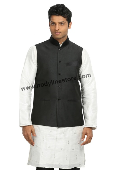 Black Nehru Jacket RK4124