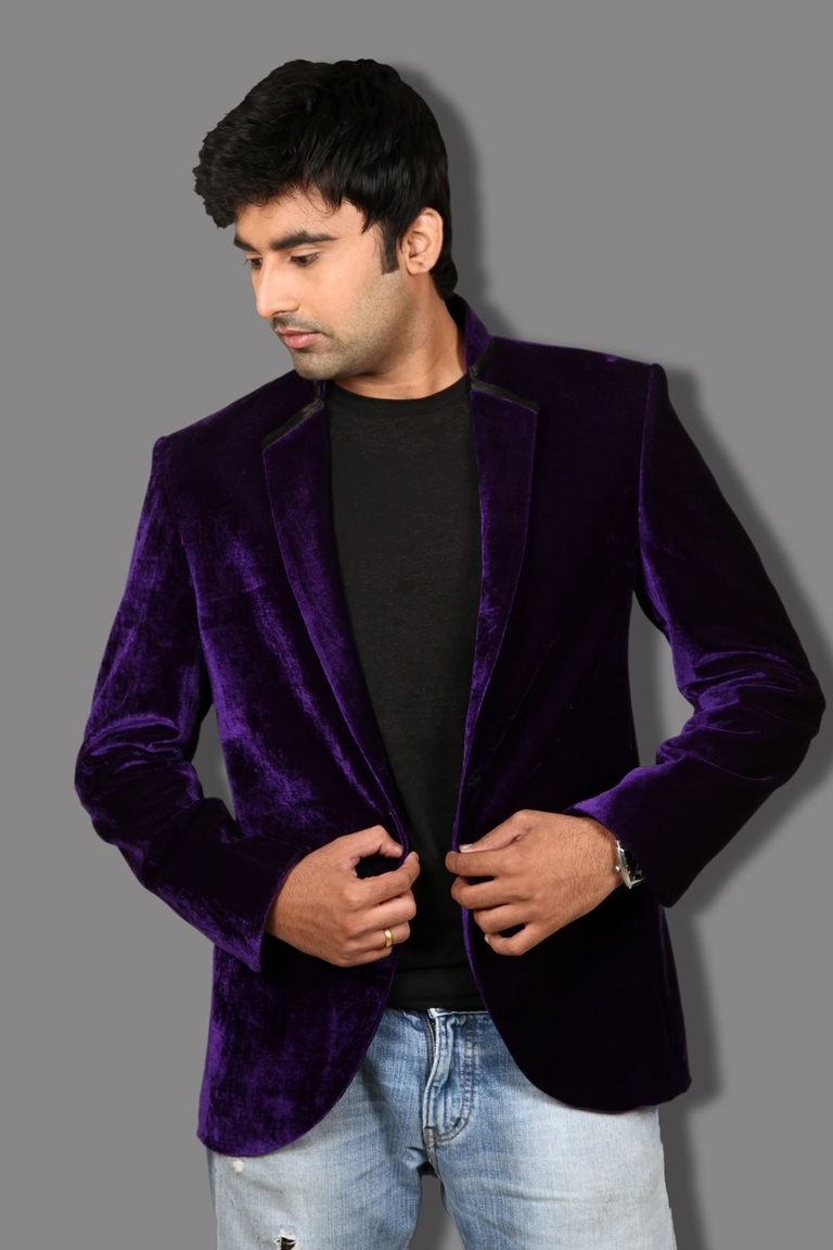 Purple Velvet Blazer Photo Album - Reikian