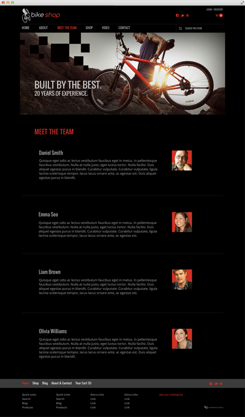 Content Page Template Example 1