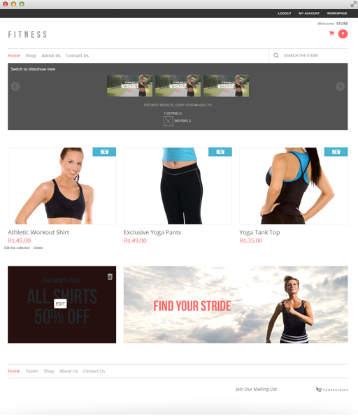 PowerStores Online Store Theme Example