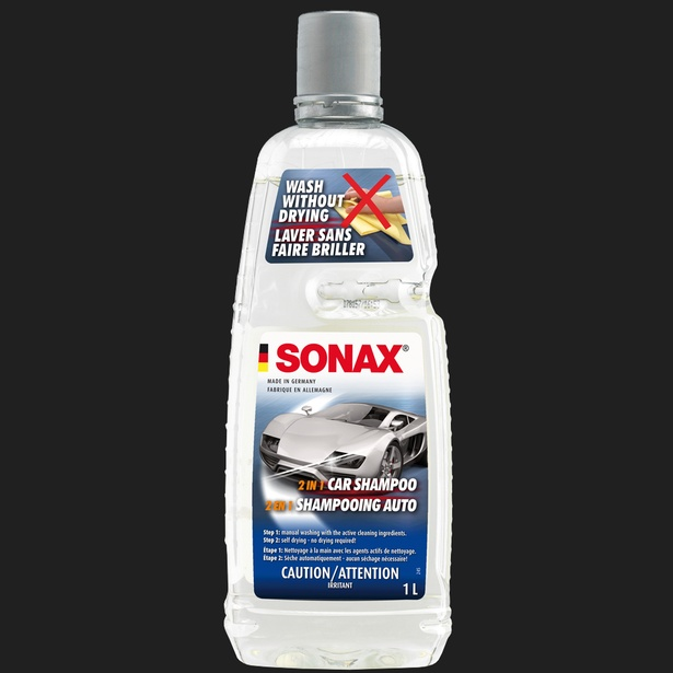 SONAX 2 in 1 Car Shampoo (Sheeting Action) 1L